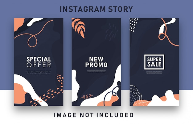 Storie di instagram di vendita astratte colorate