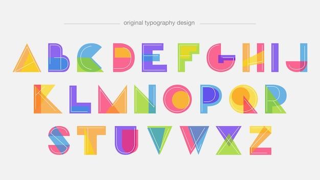 Tipografia moderna di forme astratte colorate