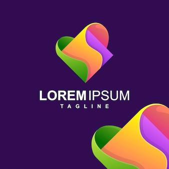 Logo colorato astratto quadrato design