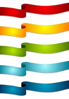 Nastri astratti colorati. nastri ondulati vettoriali