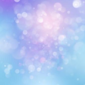 Cerchi luminosi astratti variopinti del bokeh della sfuocatura nel fondo morbido di stile di colore. modello rosa blu viola vacanza glitter. lussuosa trama naturale.