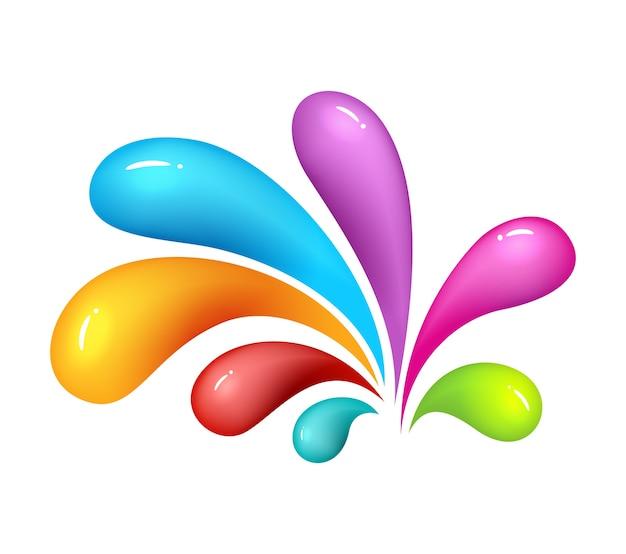 Icona di abstrak colorato su sfondo bianco