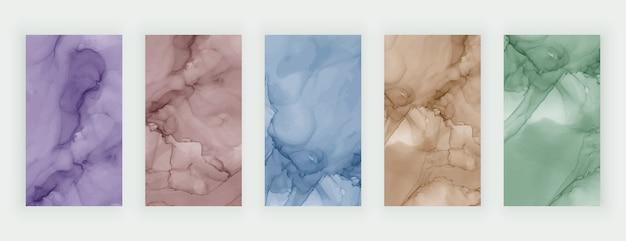 Storie di social media acquerello inchiostro inchiostro colorato