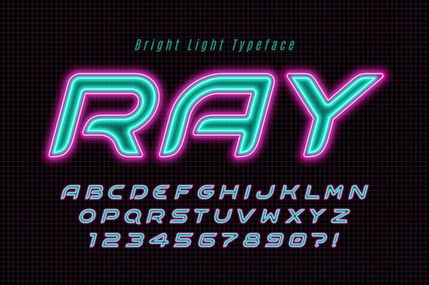 Alfabeto colorato con logo design