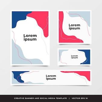 Modello di volantino opuscolo colorato rapporto annuale con forma variativa retrò.