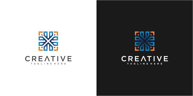 Colorful arrow community logo design ispirazione
