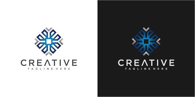 Modello di progettazione di logo freccia colorata