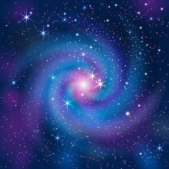 Sfondo colorato con galassia e stelle