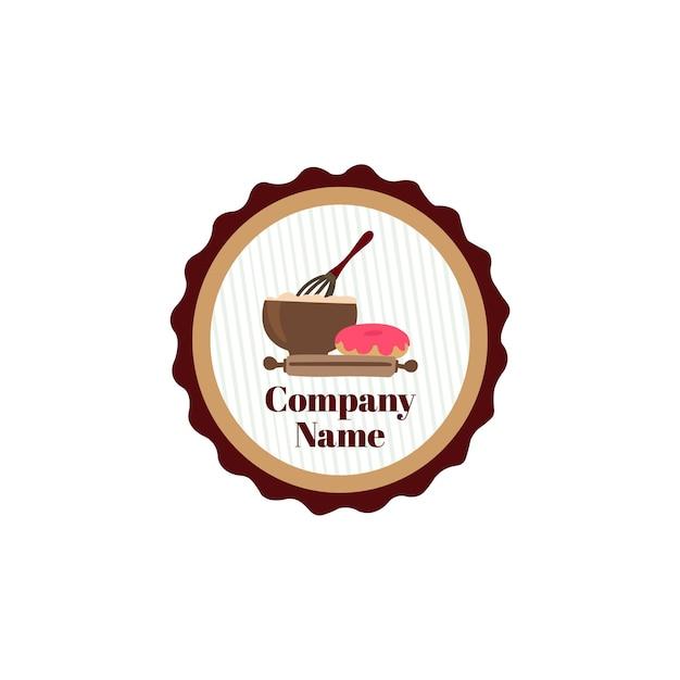 Logo di cibo da forno colorato design logo