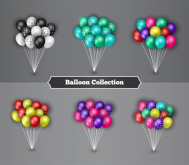 Collezione di palloncini colorati per la decorazione di compleanno