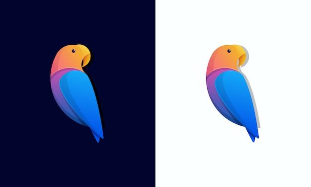 Modello logo uccello colorato