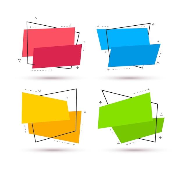 Striscioni colorati in bianco. forma geometrica astratta. illustrazione