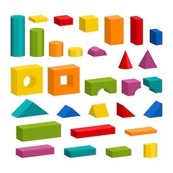 Particolari colorati del giocattolo dei blocchi per la costruzione della torre