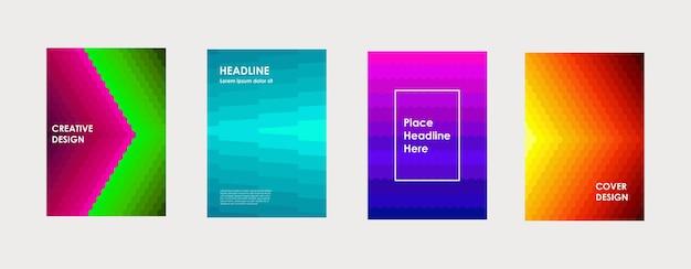 Design colorato copertina del libro poster aziendale aziendale relazione annuale brochure rivista flyer mockup