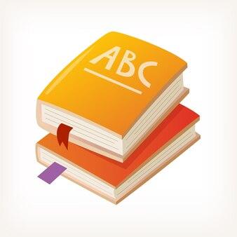 Icona di vettore di libri colorati