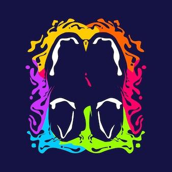 Stivali colorati concetto di design dell'illustrazione