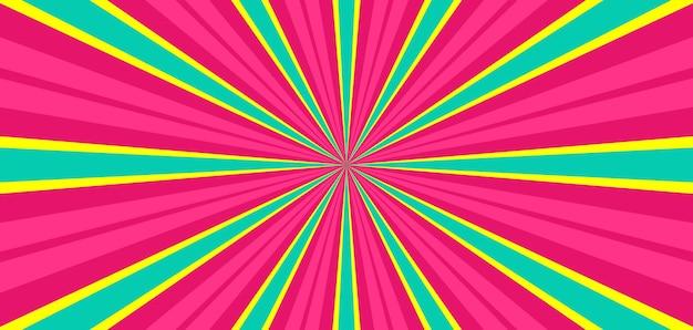 Sfondo colorato scoppio pop art