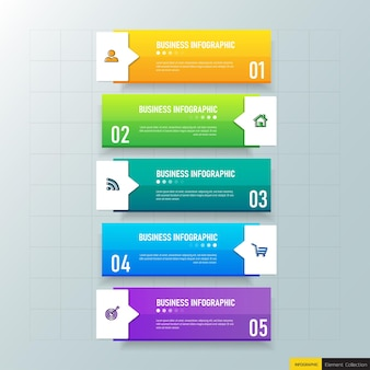 Elementi di infografica affari colorati
