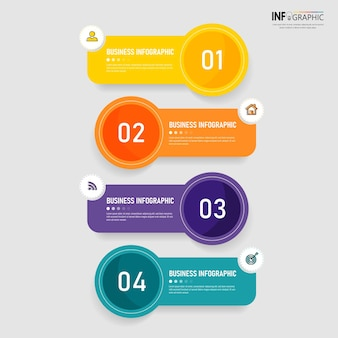 Elementi di infographics di affari colorati
