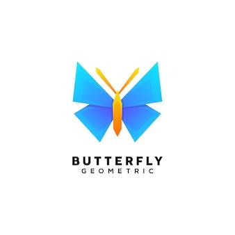 Modello di illustrazione logo farfalla colorata