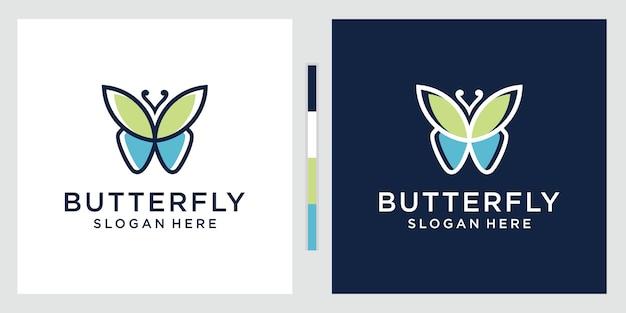 Modello di logo farfalla colorata