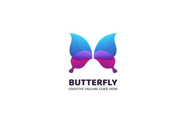 Modello di logo colorato farfalla