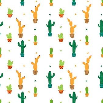 Cactus colorato in fondo senza cuciture. illustrazione vettoriale.