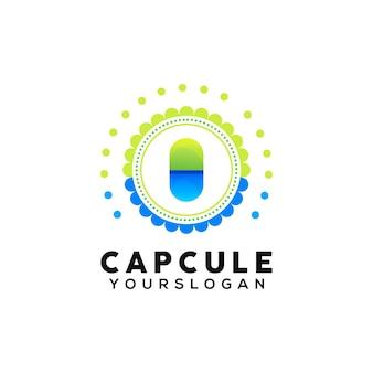 Modello di progettazione del logo della capsula colorata