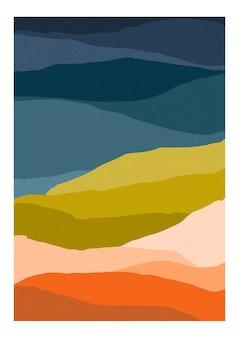 Modello colorato o carta con montagne astratte di colori eterogenei.