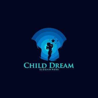 Modello di progettazione logo colorato sogno bambino child