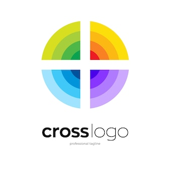 Design del logo del cerchio colorato