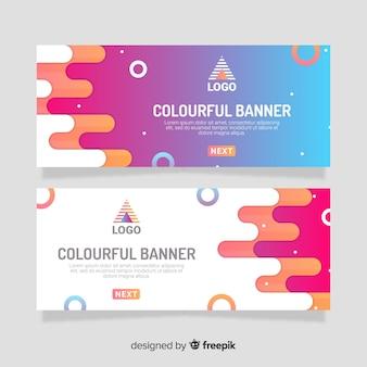 Modello di bandiera cerchi colorati Vettore Premium