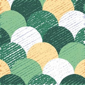 Cerchi colorati pattern, astratto sfondo piatto, sfondo creativo con texture grunge, illustrazione