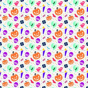Collezione colorata design senza cuciture di halloween