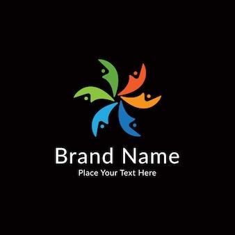 Modello di logo colorato della comunità