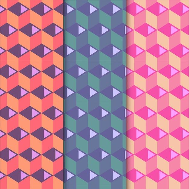 Set di modelli cubi colorati