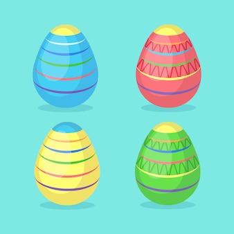 Uova di pasqua decorate colorate. vacanze di primavera. buona pasqua