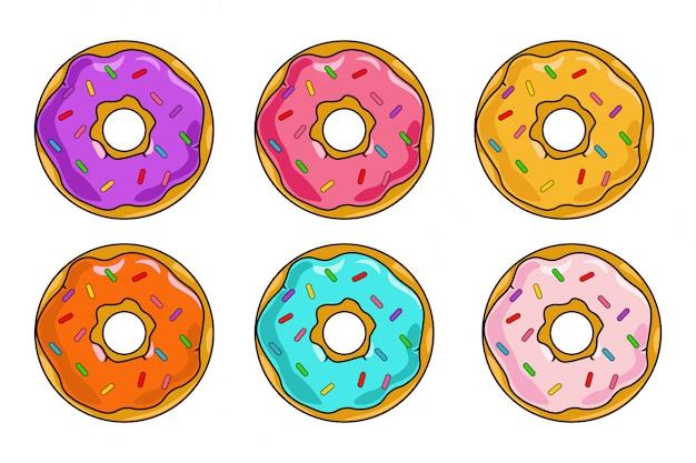 Set di dessert colorati
