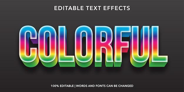 Effetto di testo modificabile colorato