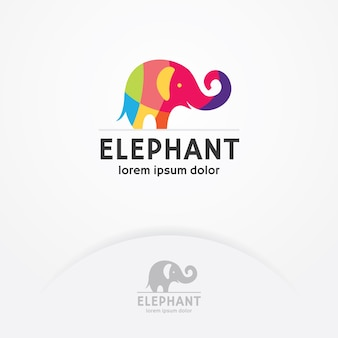 Logo colorato elefante