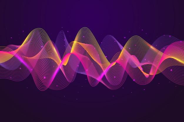 Sfondo colorato onda equalizzatore