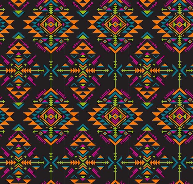 Modello senza cuciture etnico colorato con forme geometriche