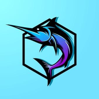 Modello di logo di pesce colorato
