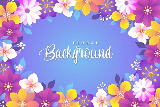 Sfondo floreale colorato con design piatto