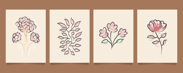 Illustrazione floreale colorata in stile acquerello, adatta per la decorazione della parete, carta da parati, copertina, invito, banner, brochure, poster o carta