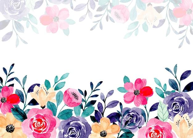 Fondo astratto dell'acquerello floreale colorato