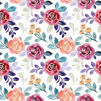 Modello senza cuciture dell'acquerello floreale colorato
