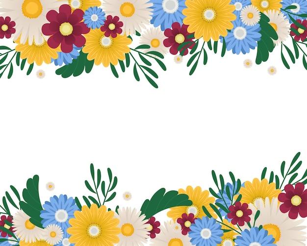 Bordi di fiori colorati