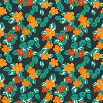 Modello senza cuciture di fiori colorati in estate