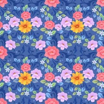 Fiori colorati design seamless pattern